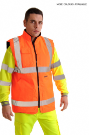 Reversible High Visibility/Fleece Vest